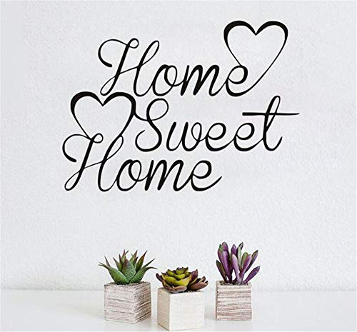 Muchkey Pegatinas Pared Etiqueta de Pared Decoración Estilo Home Sweet Home Calcomanía De Vinilo Creativa