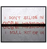 Banksy Climate Change Graffiti - Edgy Urban Street Art Decor - 8x10 Wall Art Decoration Poster for Bedroom, Living Room, Home, Apartment - Cool Gift for Liberal - Funny Photograph - UNFRAMED Photo