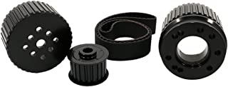 Assault Racing Products 2256KIT-BK for Big Block Ford Black Billet Aluminum Gilmer Belt Drive Pulley Kit BBF 429 460