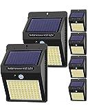 【6 Pack - 3 Mode】Lampe Solaire Extérieur, Hepside 100 LED Lumiere Solaire Exterieur étanche Projecteur Solaire avec Detecteur de Mouvement Spot Solaire Sécurité Sans Fil Applique Led pour Jardin