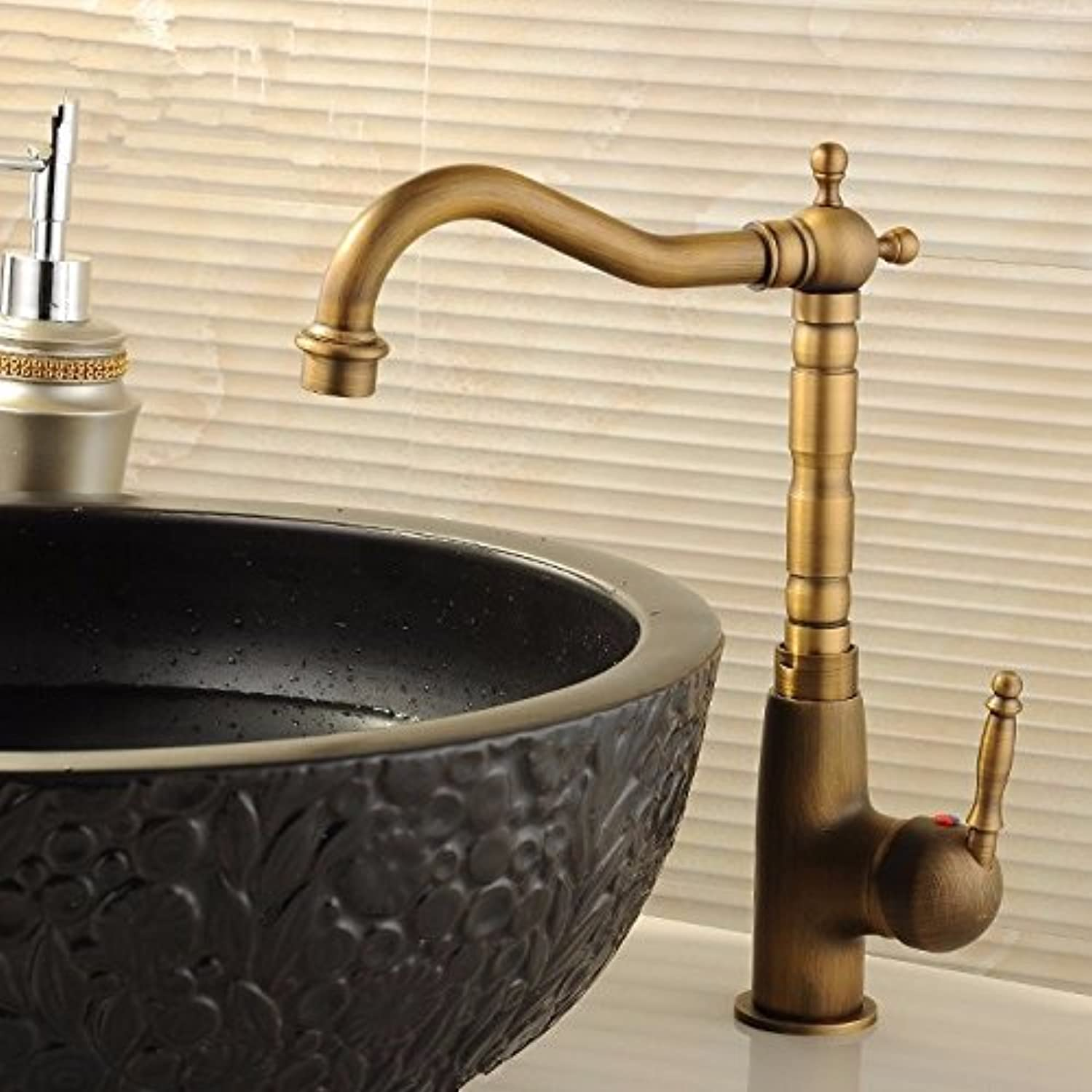 Hlluya Professional Sink Mixer Tap Kitchen Faucet Antique faucet surface basin mixer basin and cold water