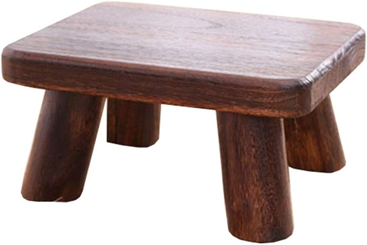 Small Stool-Solid Wood Multi-Functional Low Stool Stool shoes Bench Small Bench Home Tea Coffee Table Sofa Stool FENPING (color   Burnt color, Size   36  26.5  18cm)