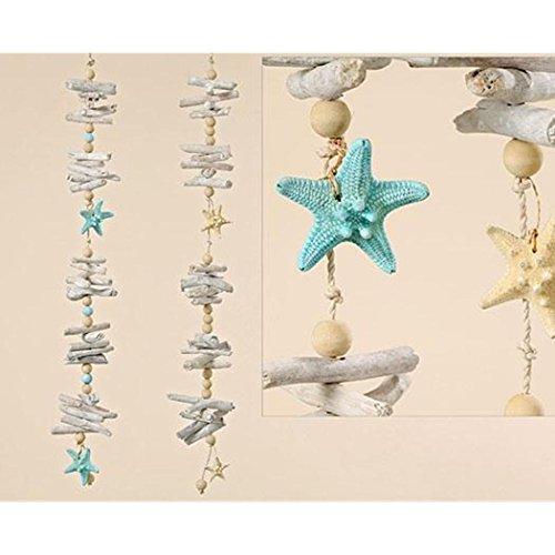 *2er Set Girlande ~ Seestern ~ maritim Hängedeko Stern Deko Dekoration 70 cm*