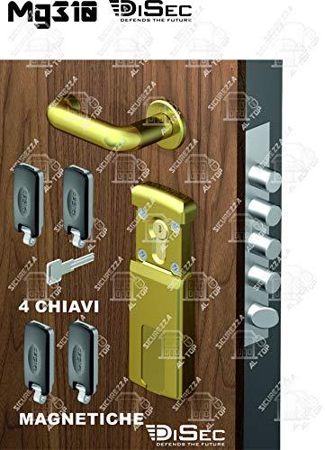 MG310 4 W diseño protección magnética cilindro latón PVD-4 llaves