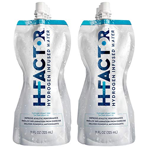 HFactor Hydrogen Infused Pure Drinking Water, Pre Or Post Workout Recovery Drink, Molecular Hydrogen Supports Athletic Performance, Delivers Antioxidant, 11 Fl Oz (Pack of 6), Packaging May Vary