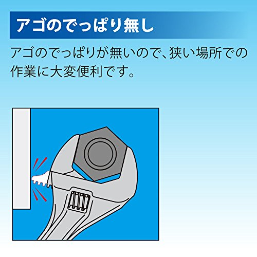 トップ(TOP)エコワイド口開き7~26㎜薄型軽量ワイドモンキレンチHY-26