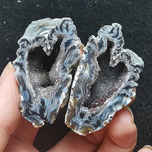 YSJJAXR Cristal áspero 1 Pare Natural Mini Agata Gema Cristal Cueva Decoración de Piedra Geología Mineral Enseñanza Espécimen Mujeres Bricolaje Joyas (Entrega al Azar Decoración hogareña