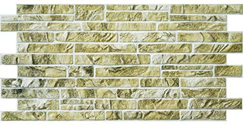 Paneles de pared 3D Piedra ladrillo pizarra efecto decorativo PVC revestimiento plástico (pizarra verde)