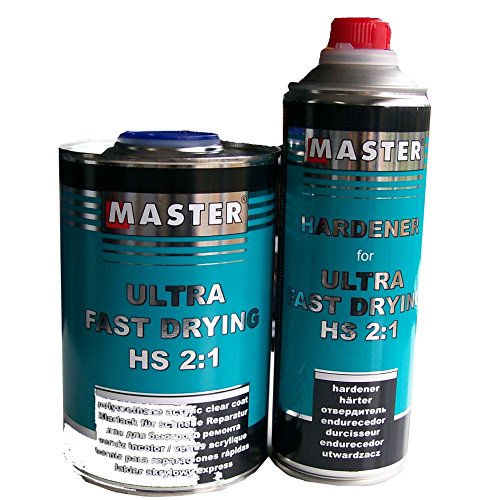 Master Troton Acryl Klarlack 2K CLEAR COAT Ultra Fast Drying UHS 2:1 1L + Härter 1:2 0.5L