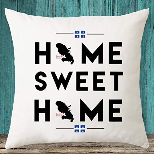 Home Sweet Home - Funda de almohada decorativa con mapa de Martinica, regalo de inauguración de la casa, funda de almohada personalizada, idea de regalo