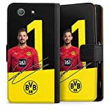 DeinDesign Etui Compatible avec Sony Xperia Z3 Compact Etui Folio Etui magnetique Borussia Dortmund...