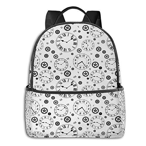 Rucksack Freizeit Damen Herren, Uhren Campus Kinderrucksack, Daypack Schulrucksack Sportrucksack Tablet Tasche 15,6 Zoll