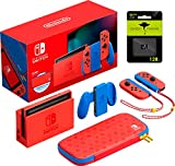 Nintendo Switch Mario Red & Blue Edition - Red Joy-Con, Video Game, 6.2'' Touchscreen LCD Display, 1920x1080 Resolution, 32GB Internal Storage, WiFi, HDMI, Bluetooth, W/GM 128GB MicroSD Card