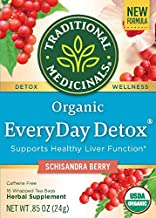 Traditional Medicinal's Everyday Detox Schisandra Berry Tea 16Ct - 3 Pack