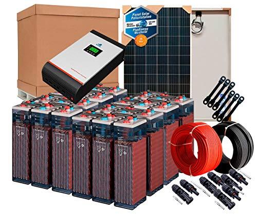 Kit Solar 48v 4800w/24000w día Inversor Multifunción 5kva Regulador MPPT 80A Batería 10OPzS 1500Ah