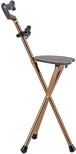 GUO épaissie avec des selles en aluminium triangulaire pliant walker canne tabouret multifonctions