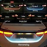 Nslumo, striscia a LED (RGB) per il bagagliaio dell'auto, 12V, per luci posteriori, luci per il bagagliaio, frecce, 120cm
