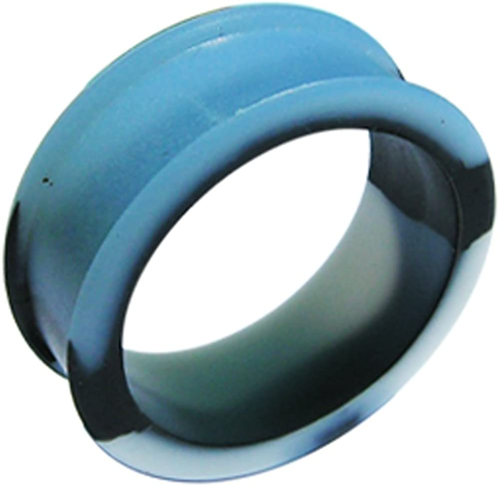 AtoZ Piercing Marble Silicone Color Changeable to Blue Under Sunlight Tunnel Gauge Ear Plug - Sold by Piece