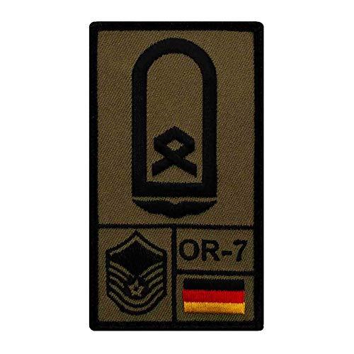Café Viereck ® Hauptfeldwebel Luftwaffe Bundeswehr Rank Patch mit Dienstgrad - Gestickt mit Klett – 9,8 cm x 5,6 cm