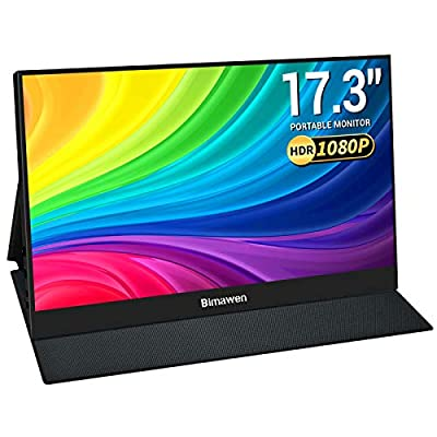 "Bimawen 17.3 "" Portable Monitor,HDR 1080p IPS Screen"