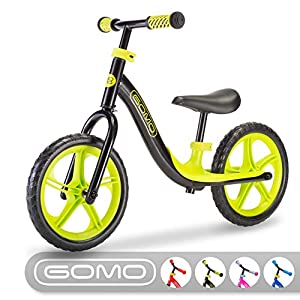 GOMO Balance Bike - Toddler Training Bike for 18 Months, 2, 3, 4 and 5 Year Old Kids - Ultra Cool Colors Push Bikes for… -