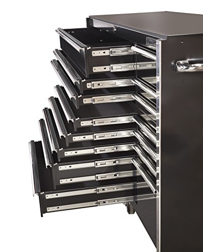Extreme Tools RX722519RCBK Rx Series 19 Drawer Roller Cabinet with Ball Bearing Slides, 72-Inch, Black High Gloss Powder Coat Finish Indiana