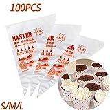 Malayas 100pcs Bolsas de Pastelería Mangas Pastelera Bolsas Desechables para Decoración de Pasteles y Galletas Tamaño S