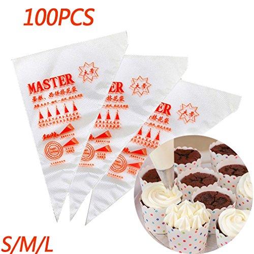 Malayas 100pcs Bolsas Pastelería Mangas Pastelera
