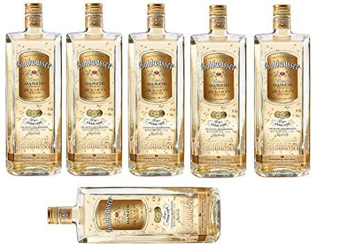 6 Flaschen Danziger Goldwasser a 0,7l Liquer Danzig mit 22 Karat Blattgold 40% Vol.