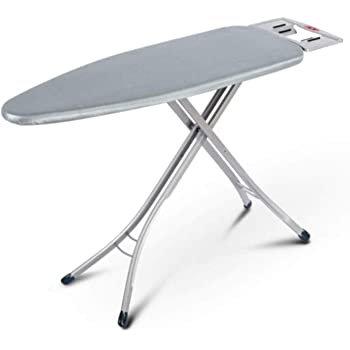 Sasimo International Quality Ironing Board/Iron Table Stand with Press Holder, Foldable & Height Adjustable/Ironing Board with Multi-Function Ironing Table/Ironing Board Covers with Foam pad