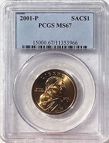 2001 P Sacagawea Dollar MS 67 Blue Label PCGS