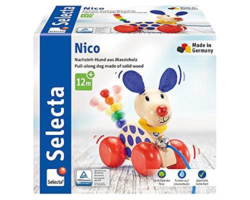 Selecta 62026 Nico, Nachzieh Hund, Schiebe-und...