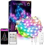 Sxlofty Smart Fairy String Lights - 65.6FT 132LED Fairy Lights with Music Mode...