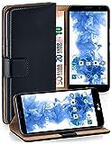 MoEx Funda Cartera [protección 360°] Compatible con LG Bello 2 | Cierre magnético, Noir