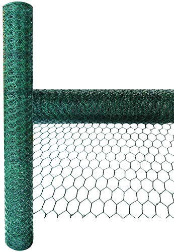Green Blade BB-CW112 5 x 0.6m PVC Coated Galvanized Wire Netting with 25mm Mesh