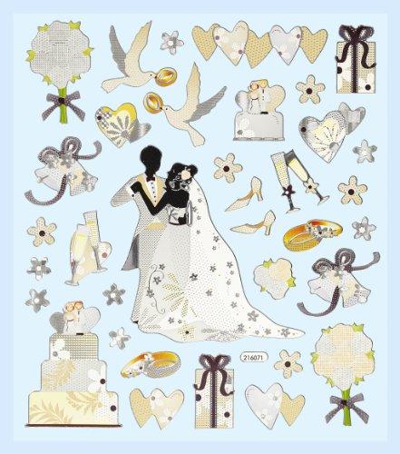 CREApop® HOBBY-Design Stickers Hochzeit