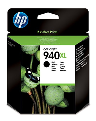 HP Cartucho de Tinta Negra HP 940XL Officejet 940 Officejet Ink Cartridges, De 20 a 80% HR, De 0 a 40 °C, de 15 a 35° C, De 20 a 80% HR, 142 x 124 x 40 mm, 0.129 kg (0.284 Libras)