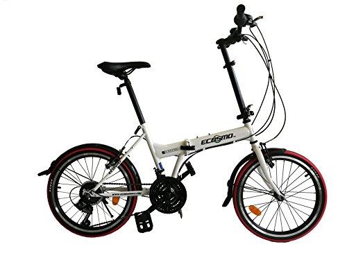 ECOSMO 20'a estrenar Plegable Ciudad Bicicleta 21SP - 20F03W