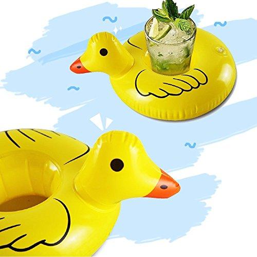 CHRONSTYLE 12 PCS Flotador Posavasos, Juguetes Flotantes Inflables Pool Flotador Bebidas Decoraciones...