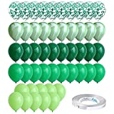 50 Pcs 10 Inch Agate Latex Balloons Green Balloon Colorful Balloons for Jungle Baby Shower Wedding Office Birthday Party Supplies