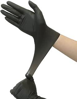 ニトリル手袋使い捨て手袋粉なし 100枚入 ブラック (M)