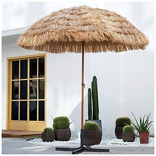 Homfure 7.4 pies Parasol Exterior Sombrilla de Patio 8 Varillas, 32 mm de Diámetro, Grandes Sombrillas para Patio, Patio al Aire Libre,Jardín,Piscina