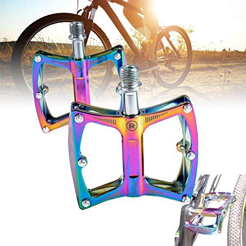 Pedal Bicicleta Montaña,Bestine 9/16' Aleación Aluminio Pedales Sellados de 3 Rodamientos Ciclismo Ultraligeros Antideslizantes para Bicicletas Carretera MTB Montar ai Aire Libre