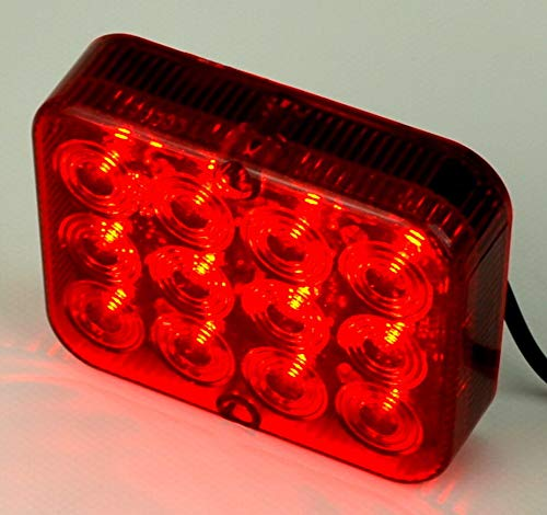 12 LED Nebelschlussleuchte Betriebsspannung 12 Volt E4 100 x 80 x 25 mm für Traktor PKW LKW Trailer Wohnwagen
