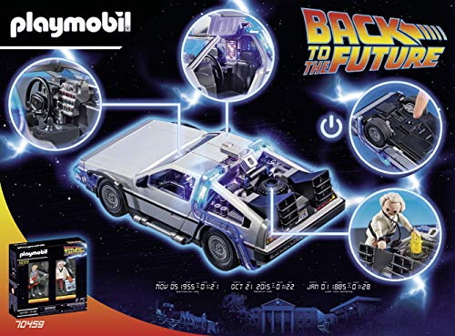 Playmobil 70317 Back To The Future Delorean with Figures and Features, for Ages 5+