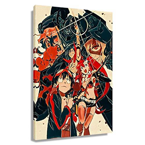 CHElIAUK Póster de anime Gurren Lagann para pared, impresión moderna, cuadro de pintura en lienzo, decoración de astracto Artwrok, decoración de sala de estar para regalos (enmarcado, 30 x 45 cm)