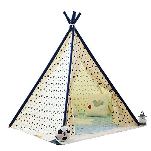 YIJIAHUI Kids Play Tent Children's Canvas Tent Play House Cartoon Toy House Indoor and Outdoor Children's Toys for Girl and Boy Kids Foldable Play Tent for Indoor Outdoor