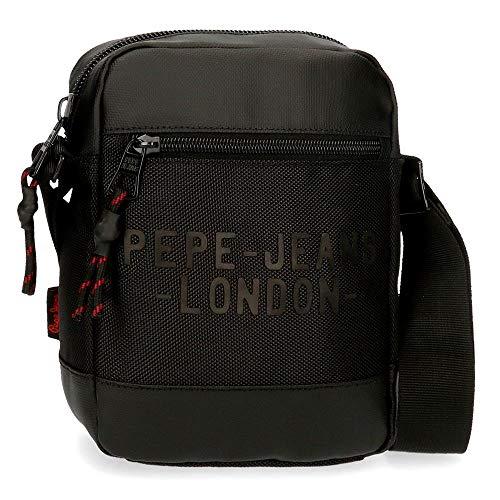 Bandolera Pepe Jeans Bromley Pequeña Negra