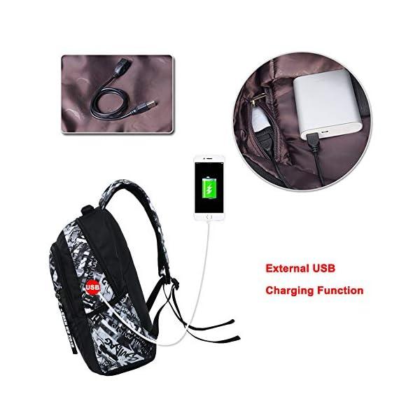 514yRkUoSnL. SS600  - UMYMAYDO1 DJ Luminous Mochila, Unisex Schoolbag Mochila para portátil Bolsa Fresca para Adolescentes con USB Puerto…