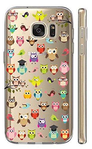 Hülle für Samsung Galaxy S7 G930F Softcase Cover Backkover TPU Schutzhülle Slim Case (2033 viele Eulen)
